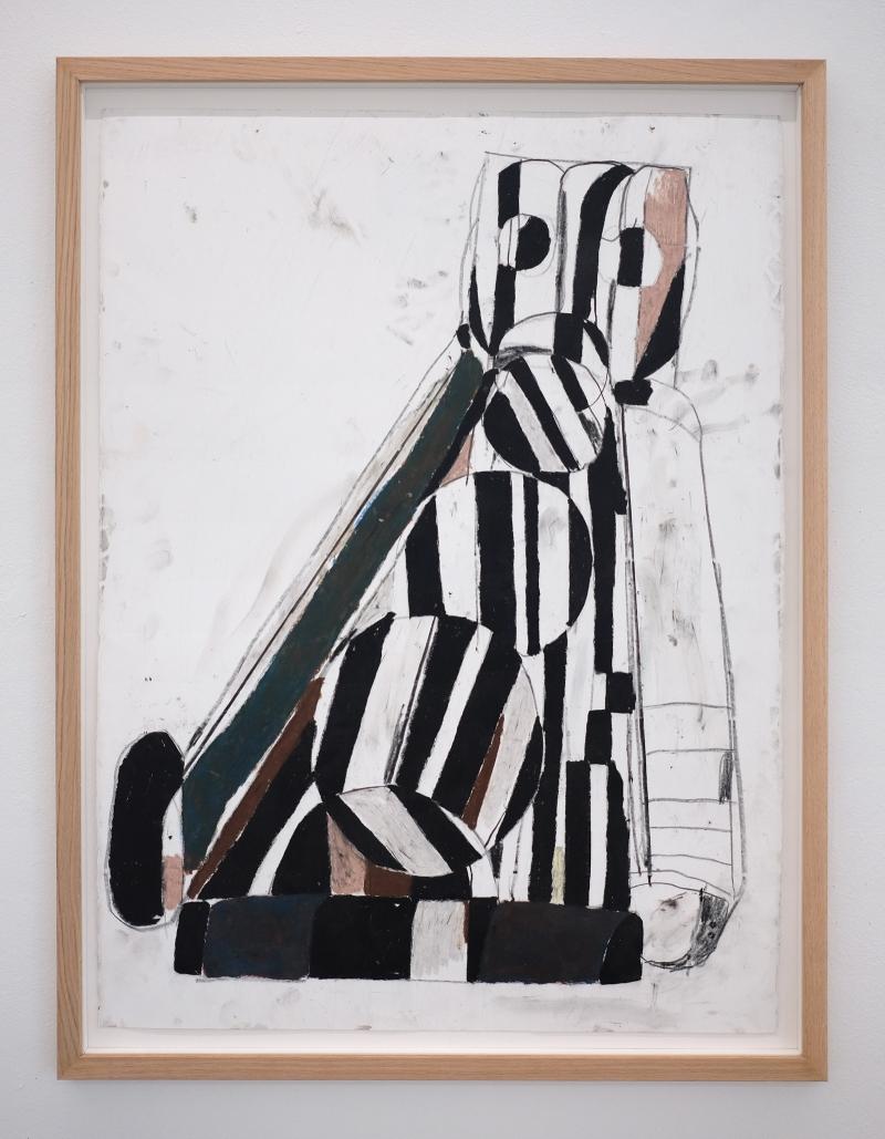 EKTA_GUEST_LIST_2020_83.5x63.5_FRAMED_PASTEL_ON_PAPER_Alice_Gallery
