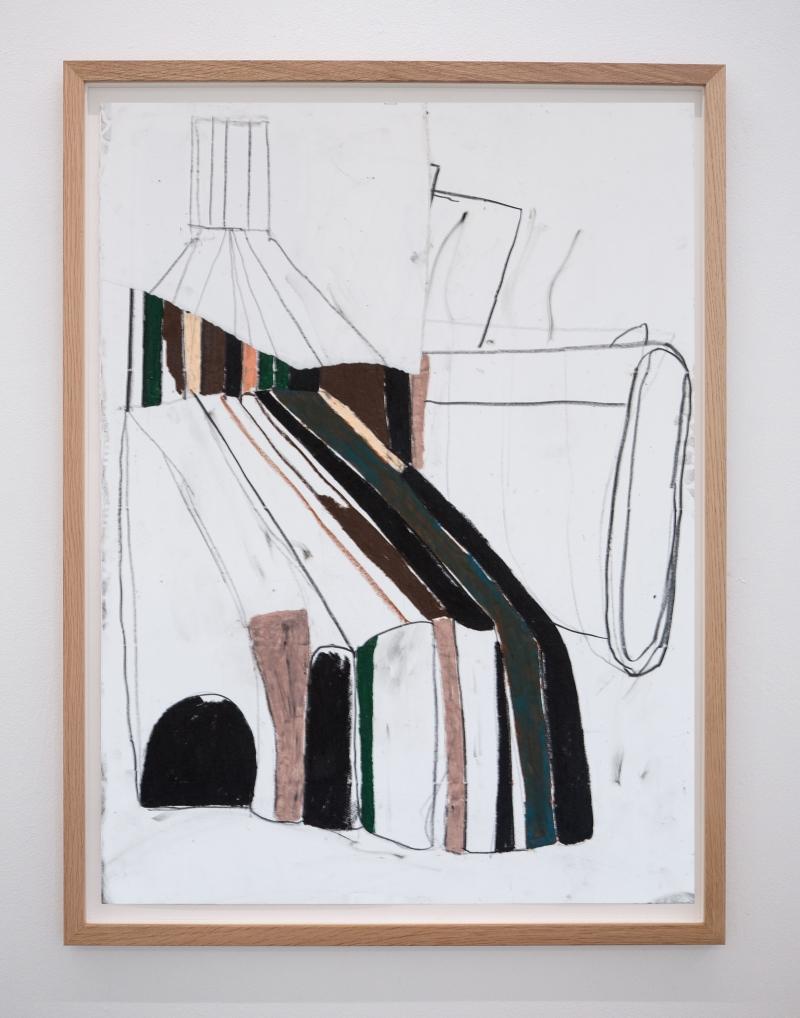 EKTA_NO_TURNS_2020_83.5x63.5_FRAMED_PASTEL_ON_PAPER_Alice_Gallery