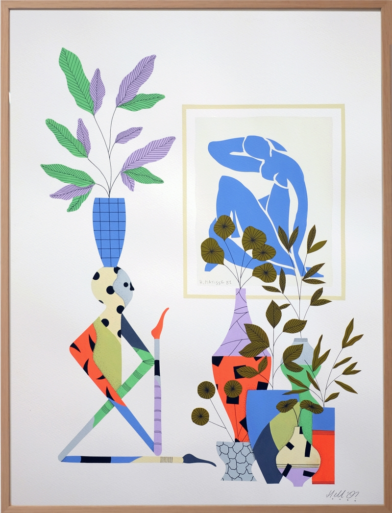 HELLO_HELLO_A_MOMENT_WITH_MY_FAKE_MATISSE_2020_56x42cm_FRAMED_1600